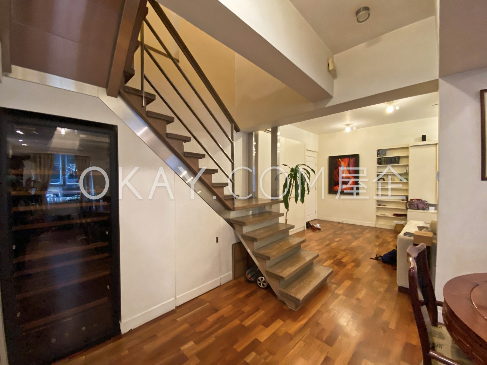 Staircase winefridge
