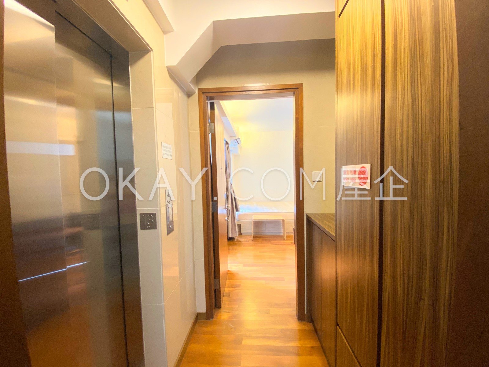 Private Floor Entrance with massive storage